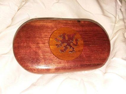 Beautiful Wooden stash box with Dragon