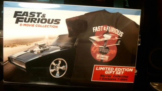 """New Sealed Unopened BLU-Ray + Digital HD: """"Fast & Furious 8-Movie Collection + Exclusive T-Shirt"""""""