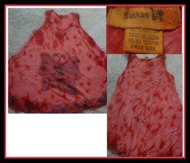 Red Tie Dye Sakkas Dress