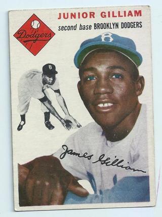 "Junior ""Jim"" Gilliam 1954 Topps Brooklyn Dodgers"