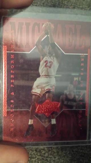 Michael Jordan card , Records and perfomances .