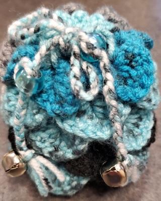Dragon Egg Dice Bag (Black and Blue)