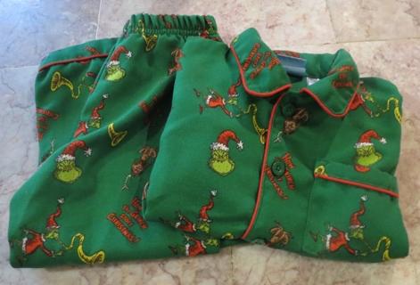 Free Boys Pajames Clothes 3t Grinch That Stole Christmas Dr Seuss 2