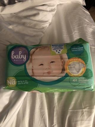 Nip newborn diapers 42 pack cord cutout ultra absorbent