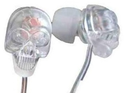 NEW SKULL HEADPHONES EARBUDS HEAD PHONES EAR BUDS MUSIC LISTENING