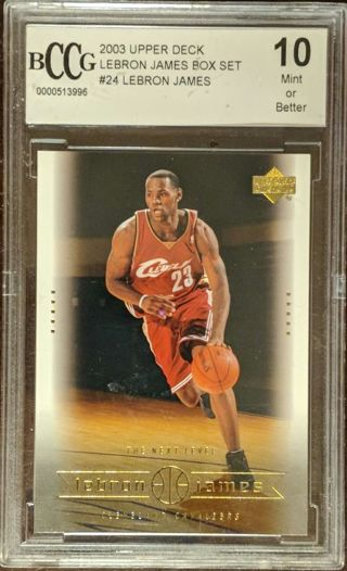 LEBRON JAMES ROOKIE CARD * BECKETT GRADED PERFECT TEN