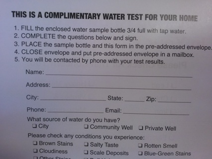 LAST ONE!!! ~~~ Home Depot Water Test Kit for Homeowners