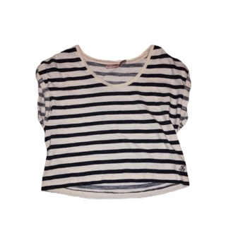 JUICY COUTURE Striped Crop Top Small