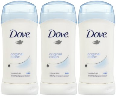 ♥️ ~ Dove Invisible Solid Deodorant, Original / Powder Clean/Fresh - 2.6 oz - 3 pk ~♥️