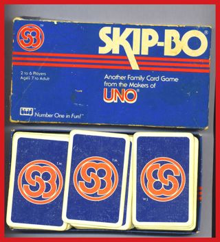 Free Vintage Toy Family Game Skip Bo Card Game Uno Makers 1982
