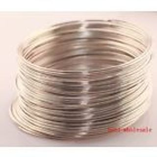 About 2 Loops Silver Tone Bracelet Memory Wire