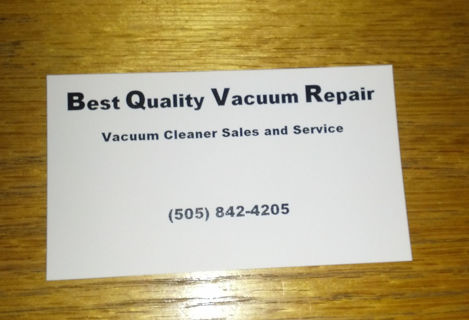Free Best Quality Vacuum Repair Disappearer Business Card