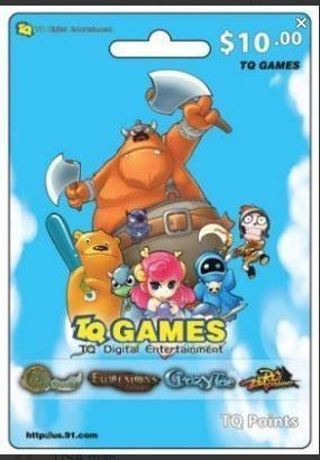 1 $10.00 Net Dragon TQ Game eCard$10 e Gift Card [E-MAIL DELIVERY]