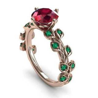 ROSE GOLD *ruby ring* sz 6-10 new