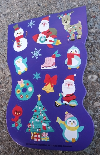 CHRISTMAS STICKERS 2 SHEETS LOT 11