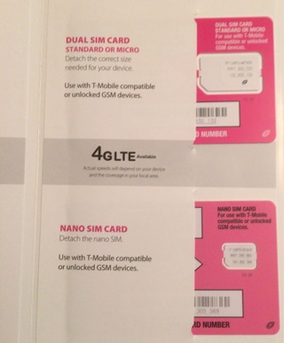 Straight talk T-Mobile or GSM unlocked SIM cards