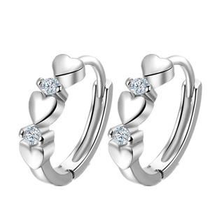 Heart Zircon Small Earrings