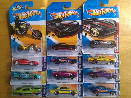 Free 12 Hot Wheels American Muscle Cars Collection Lot