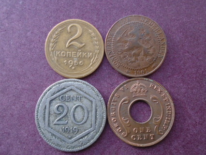 1901 1919 1942 & 1956 OLD WORLD COINS..FULL DATES!