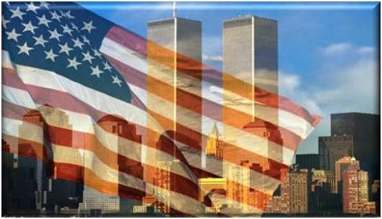 Patriotic World Trade Center Refrigerator Magnet