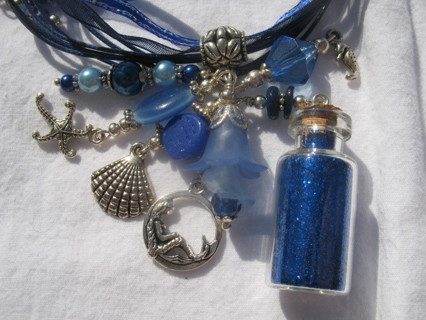 Mermaid Cluster Charm Necklace!