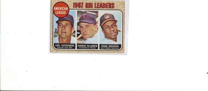 1967 AMERICAN RBI LEADERS