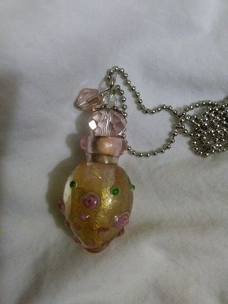 Brand new beautiful glass hand blown bottle necklace potions herbs poison Wicca Wiccan pagan voodoo
