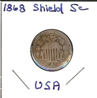 1868 United States Shield Nickel