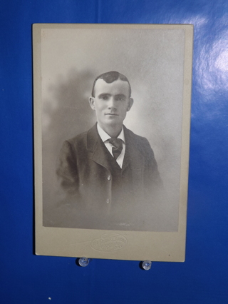 Antique Vintage Cabinet Card Photo Young Man The Phelps Studio Gloucester Ma