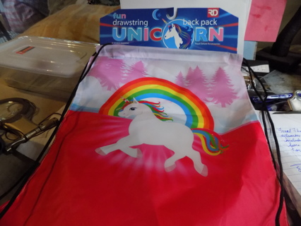 Unicorn drawstring backpack NIP