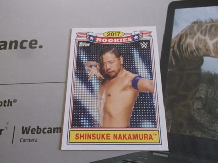 wwe  2019  topps  heritage    2017   rookies   shinsuke    nakamura   card   tr   - 2