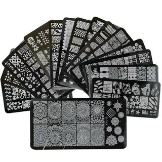 1 x New Designs Lace Mixed Stamping Nail Art Image Plates Stainless Steel Template Polish Manicure