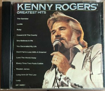 CD-KENNY ROGERS-GREATEST HITS-COUNTRY-EX