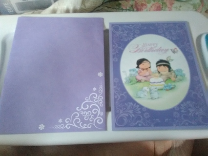 Cute Birthday Card with Matching Envelope
