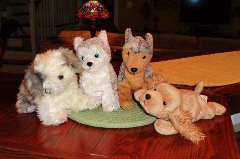 8f67fa4e0c7 Free  Four TY Beanie Baby Dogs  Furston
