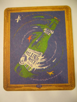 Free: Very cool Rolling Rock Beer Coaster & Sweepstakes Entry - Mint