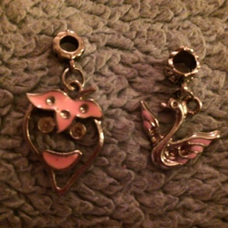 Think Pink! 2 Charms!