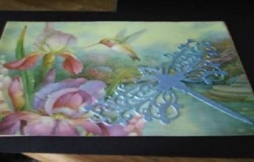"""Wonder`s In Flight "" Design Blank Card with Tan Envelope"