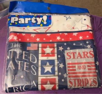 Patriotic Plastic Tablecloth