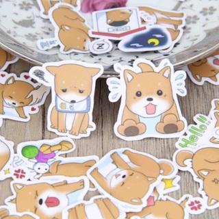 ❉♪ Tan Puppy Dog Super Cute Kawaii High End Sticker Flakes Set of 10 BRAND NEW ♪❉