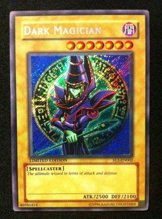 1x Dark Magician - EX/NM Limited Edition Holo Foil Secret Rare - YuGiOh Card