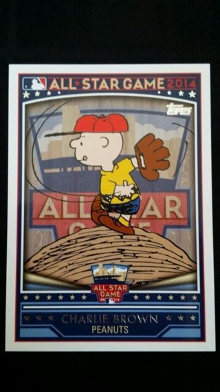 Free 2014 Topps Mlb All Star Game Charlie Brown Baseball