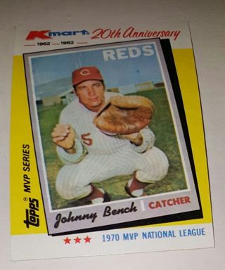 Free Rare Kmart 20th Anniversary 1962 1982 Johnny Bench Cincinnati
