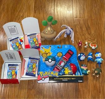 Pokemon Mega Lot McDonald's Happy Meal action figures Plush Clip belt set+++