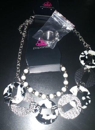 Paparazzi Necklace & Bracelet FREE CD DIAMOND RING sz 5