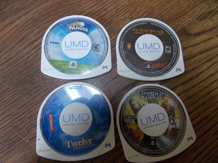 four psp games teired auction!!!!!