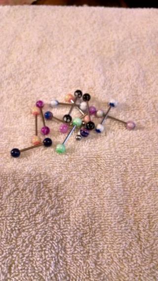 Plastic Ball Tounge rings