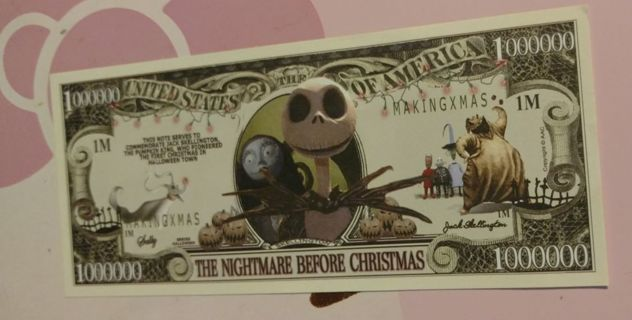 The Nightmare before Christmas money