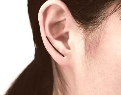NEW Simple Earrings Black Plated Arc Earrings Ear Pins Minimalist Trendy Dainty FREE SHIPPING