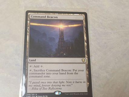 Mtg magic the gathering Command Beacon rare card Commander Legends